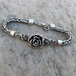 Jewelry - Sterling silver rose bracelet